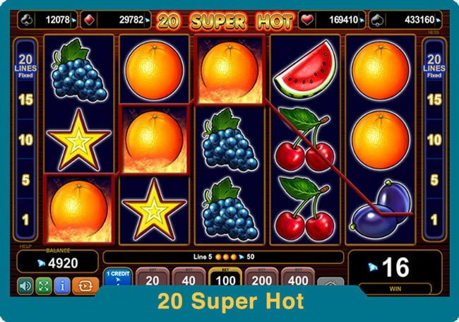 Казино игри 20 Super Hot