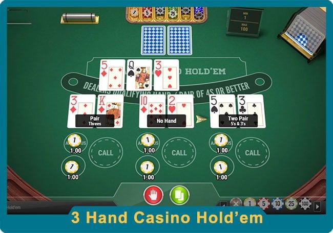 3 Hand Casino Holdem Poker