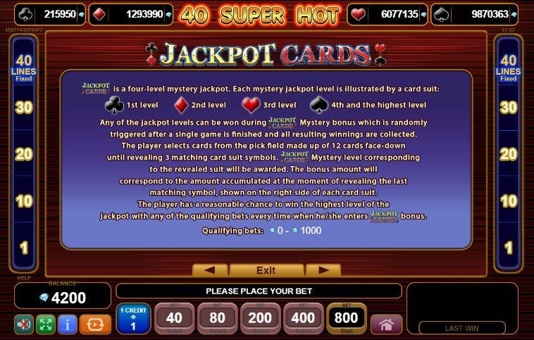 40 Super Hot Jackpot